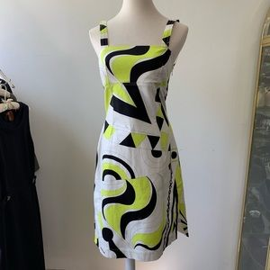 EMILIO PUCCI NEON YELLOW PRINT DRESS